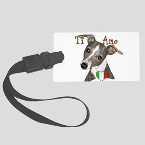 Italian Greyhound ti amo Large Luggage Tag